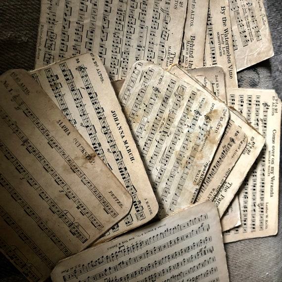 Vintage Song Cards, vintage Marches, Waltz, Military, soldiers marching songs