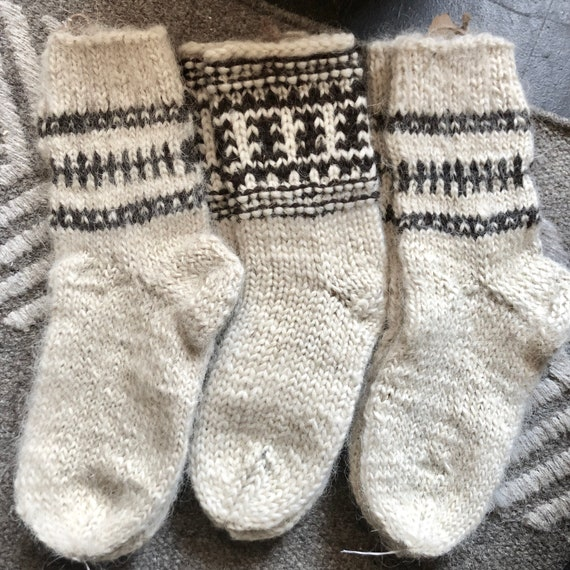 Wool Socks, Ireland handmade wool socks, never worn, 1 pair.