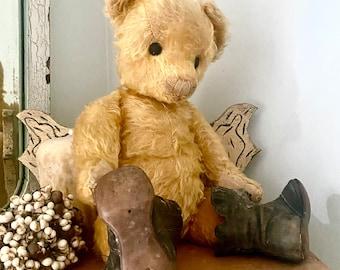 Antique Bear, Farnell, mohair teddy bear, Winnie the Pooh, approx. 1920