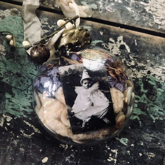 Christmas Ornament , Antique findings, made by me