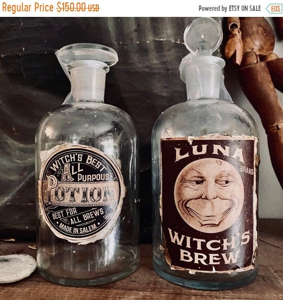 Sale 50% Apothecary Glass Bottles