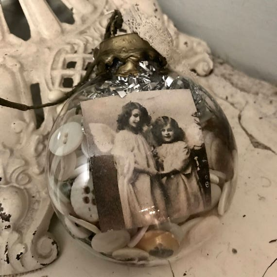 Christmas Ornament ,free shipping to Canada and US., Antique findings, made by me