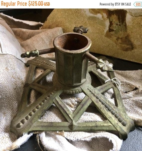 SALE 50 OFF Antique tree, Christmas Tree Stand, little tree stand