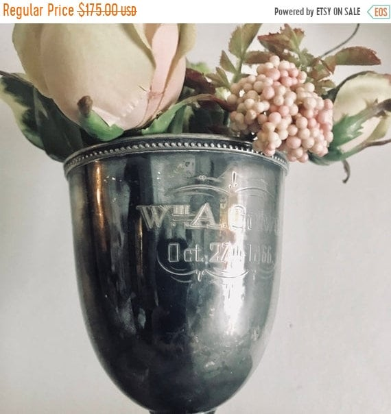 SALE 50 OFF Trophy, loving cup, Antique trophy, DATED 1866