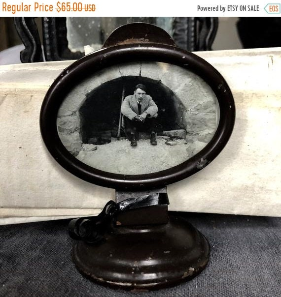 SALE 50 OFF antique letter Holder 1910 with 1840s letters