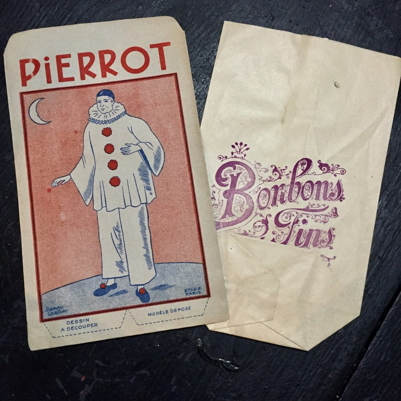 Antique French Candy Bags 2 Paper. image 0