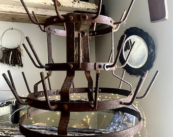 Antique French Bottle Dryer, Rare Size.