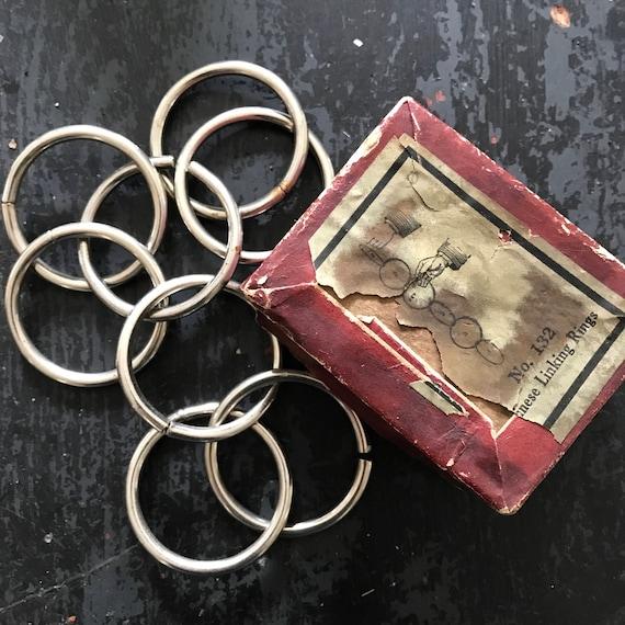 Vintage Magic Trick, antique magic rings,