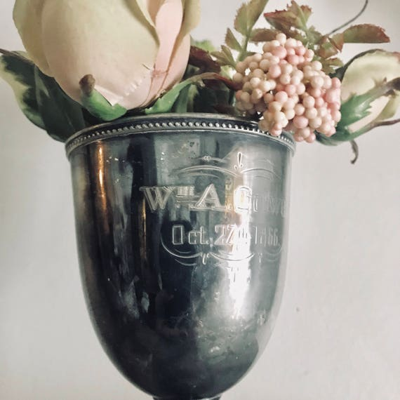 Trophy, loving cup, Antique trophy, DATED 1866