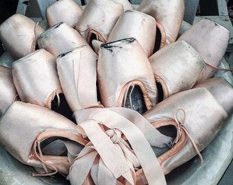 Vintage Ballet Slippers, vintage, worn, performance, loved,shabby