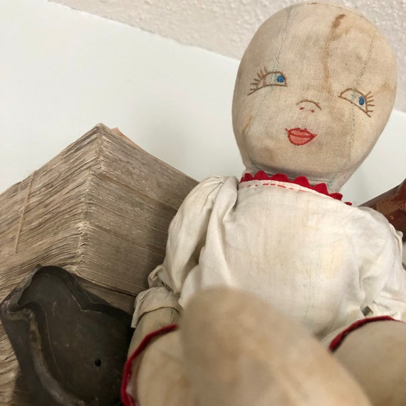 Folk Art doll, Antique handmade Doll