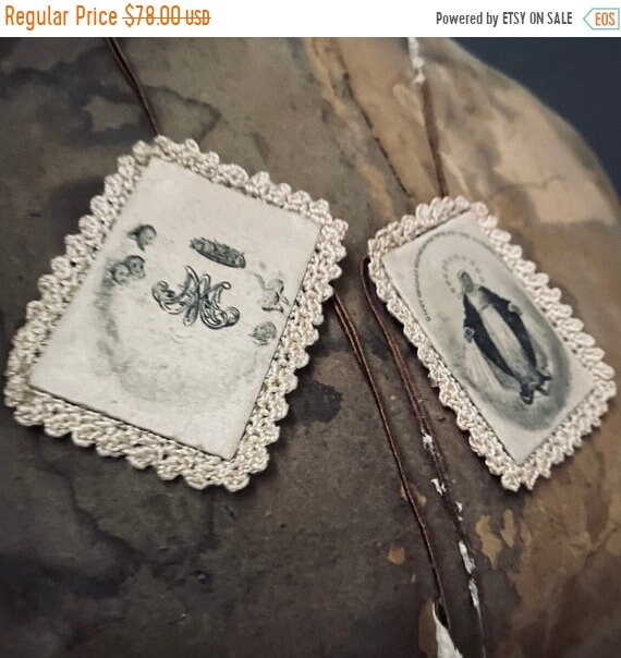 Sale 50% Vintage Rosary Charms, religious Icon, charms, french, mannequin.