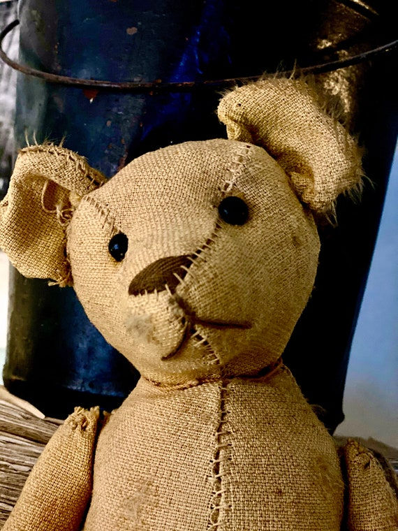 Antique bear,Mohair, shoe button eyes, French Bear