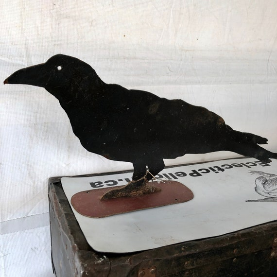 Raven, Crow, Vintage Raven made from a oil drum