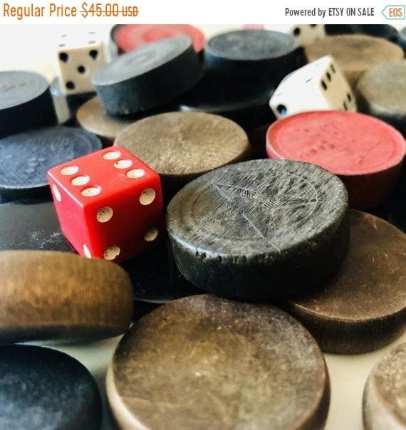SALE 50 OFF Vintage Game pieces