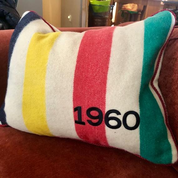 Vintage Hudson Bay Blanket Pillow