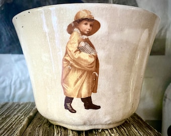Antique Biscuit Cup, biscuit cup, English tea,U Needa Biscuit Company, early advertising,