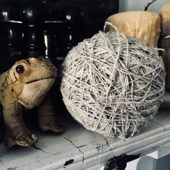 Antique linen string ball