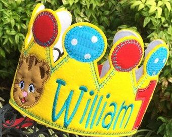 Boys Birthday Crown, Daniel Tiger Birthday, Daniel Tiger Party Hat, Daniel Tiger Party Ideas