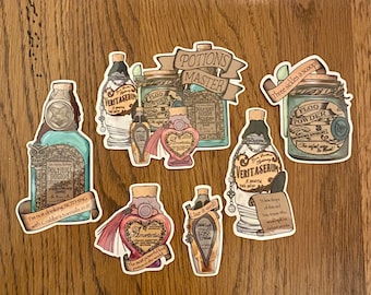 Set Of All Six Potion Stickers