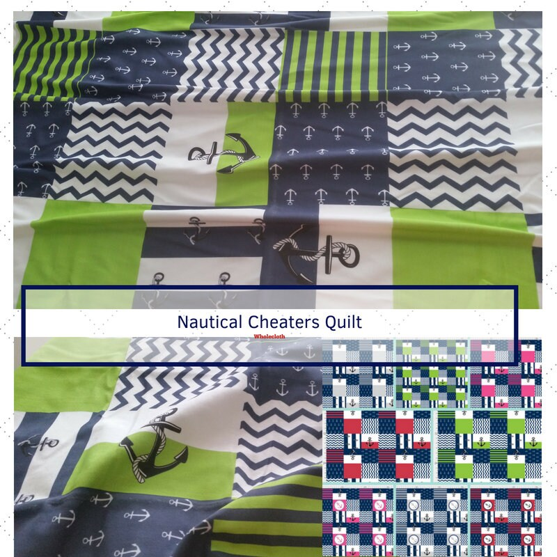 Fabric By The Yard Cheaters Quilt Anchors Away Upholstery