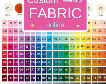 Fabric by the Yard - Color Match solids - Upholstery, Quilting, Linen, Cotton, Minky, Fleece, Organic Cotton, Muslin Gauze, DIY,