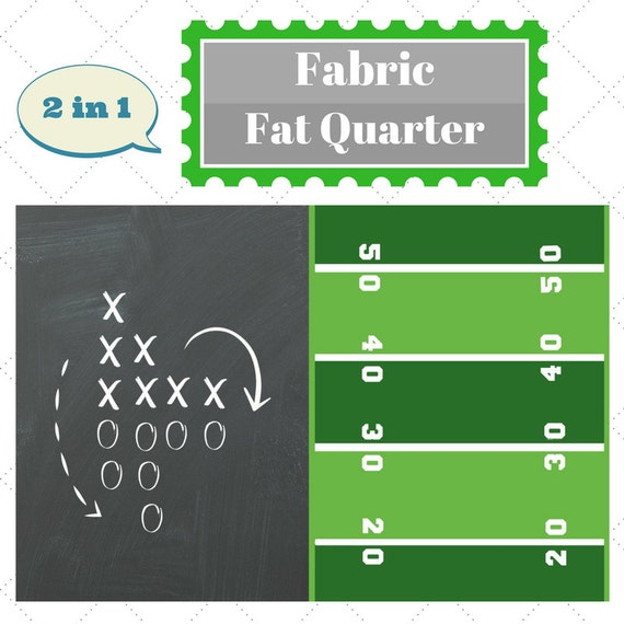 Fabric Fat Quarter - Football Game Day Sports Fabric, Upholstery, Quilting, Linen, Cotton, Minky, Fleece, Organic Cotton, DIY