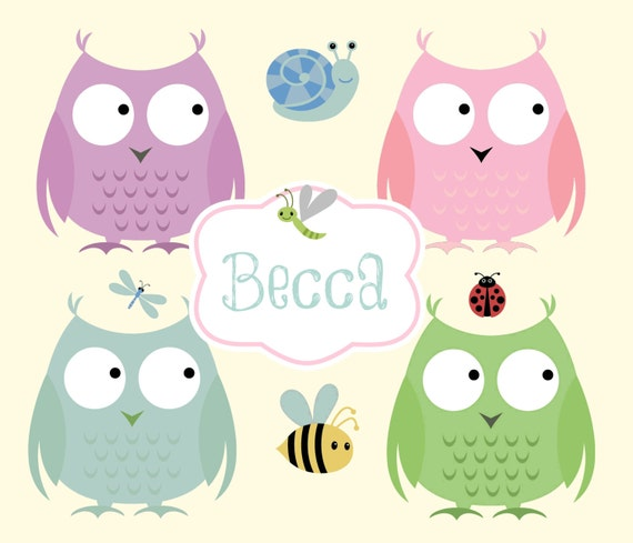 Personalized Custom  Organic Cotton Name Blanket Owl Friends 2 Pink -Newborn Swaddle, Baby Blanket, Toddler Blankets, Baby Girl Shower Gift