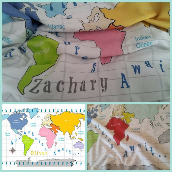 Personalized Adventures Await Organic Cotton Blanket Single Layer 24x30 / 32x50 Baby Swaddle Blanket, Newborn Swaddle