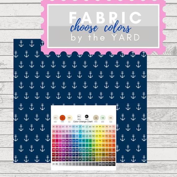 CUSTOM colors -  Anchor Fabric by the  Yard -  Gauze, Quilting, Linen, Cotton, Minky, Fleece, Organic Cotton, DIY