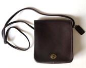 Vintage original Coach New York mahogany crossbody bag | handbag | purse | Compact Pouch style