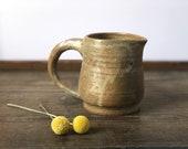 Vintage studio pottery small pitcher | handmade ceramic creamer
