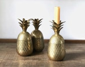 Vintage brass pineapple candle holder container | candlesticks | candleholders