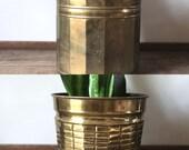 Vintage brass houseplant pots | planter indoor plants