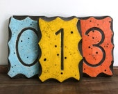 Vintage wall numbers | address numbers | house numbers