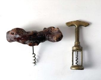 Red wooden barrel corkscrew vintage bottle openervintage corkscrewWine Bottle Opener Wood and Metal