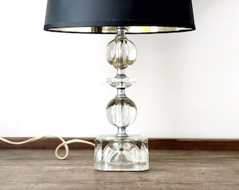 Vintage crystal table lamp | glass lamp | Abbey