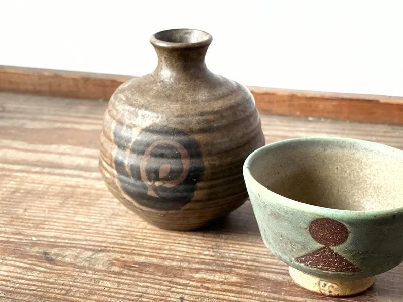 Vintage bud vase cup flower vase studio pottery
