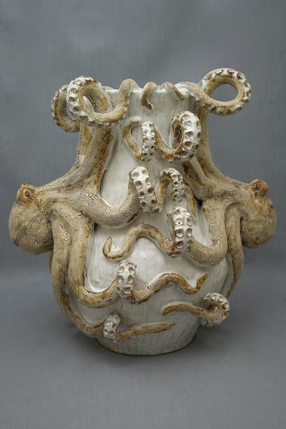 Large Ceramic Octopus Vase By Shayne Greco Beautiful Etsy