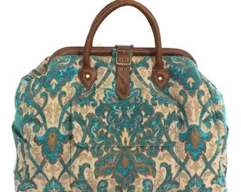 bbff7f27fc63 Mary Poppins Style Large Custom Carpet Bag   Travel Bag