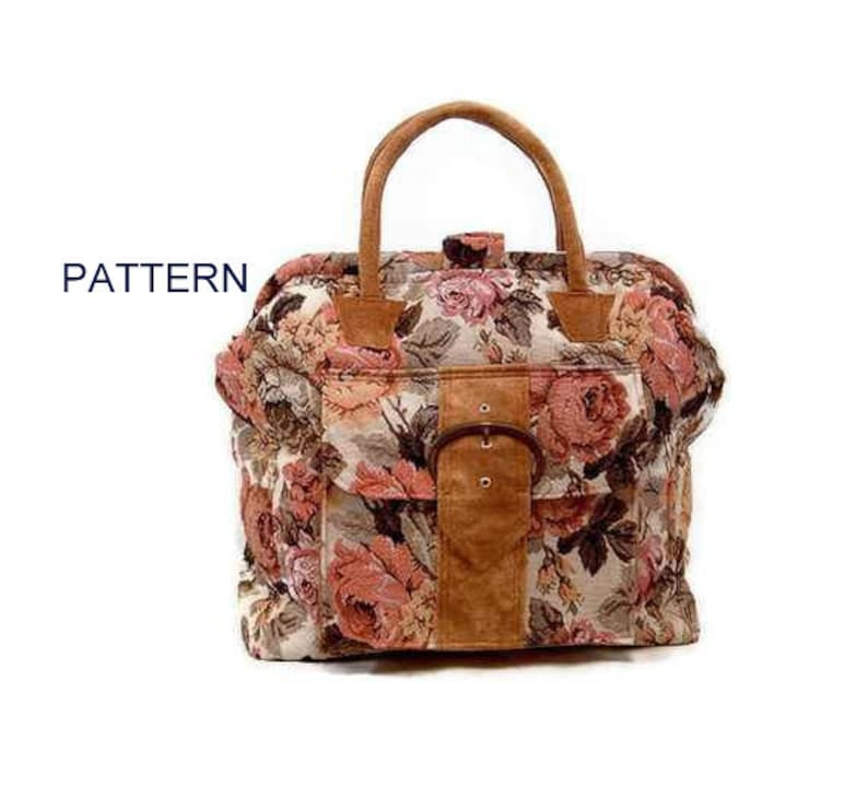 9714dc54c3d PATTERN for Carpet Bag Victorian Shabby Chic Mary Poppins