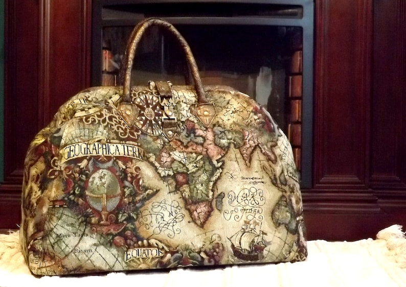 8351a25dfbc Mary Poppins Style Steampunk Carpet Bag   Travel Bag Old World