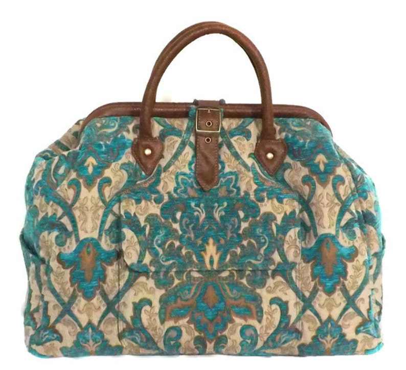 9eec35dfed4 Mary Poppins Style Large Custom Carpet Bag   Travel Bag