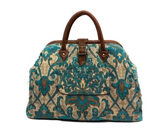Mary Poppins Style Large Custom Carpet Bag / Travel Bag 1/2 price Priority shipping