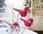 RESERVED Listing for Cathald ONLY 6 Little Red Birds....