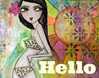Hello Sunshine! 5x7 ARt Card Print