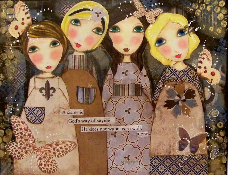 Four Sisters Fine art PRINT 11x14 and 12x16 LIMITED QUANITIES image 0