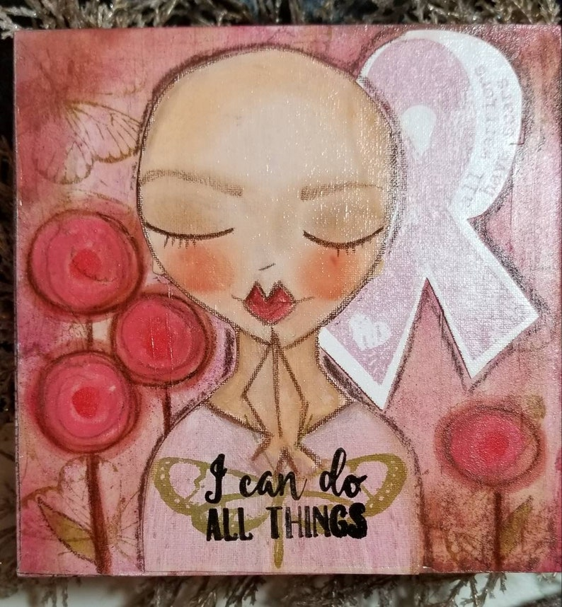 I can do all things. Breast cancer awareness. Mini ORIGINAL image 0