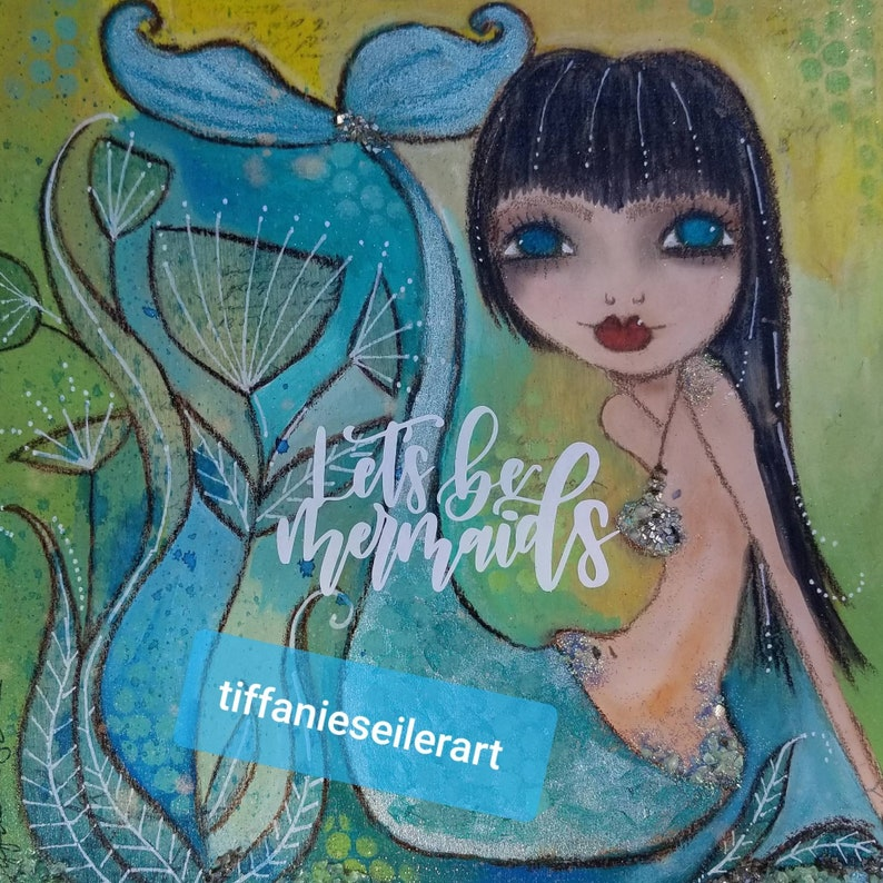 Lets be Mermaids. Crystal. ORIGINAL painting image 0
