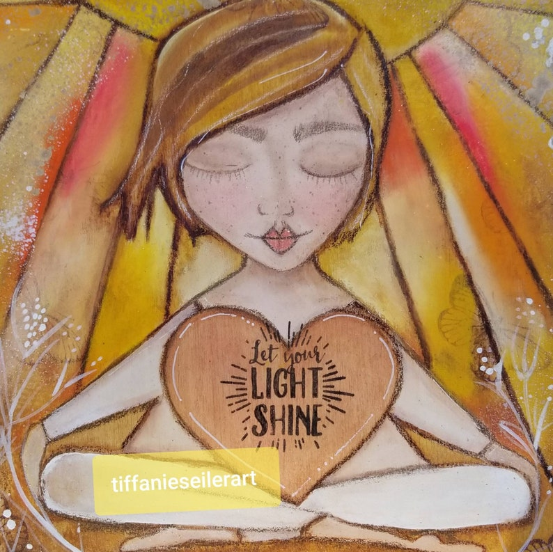 Let your light shine. ORIGINAL painting. Mixed media art. image 0